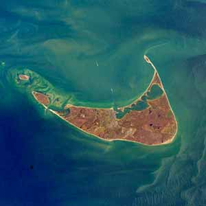 Satellite image of Nantucket